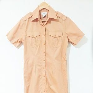 Brooks Brothers 346 Light Orange Shirt Dress